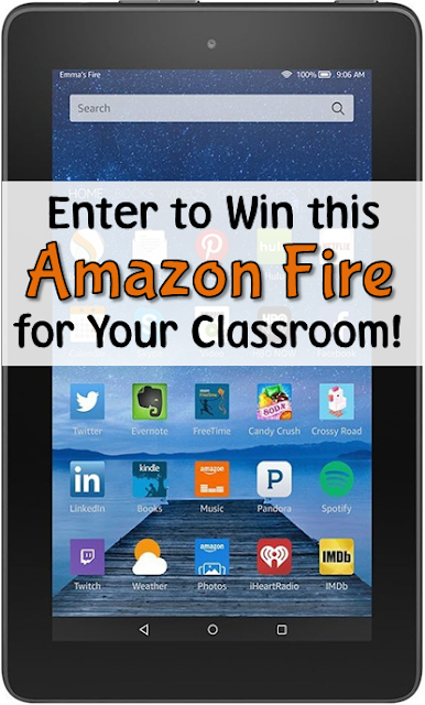 Get your kids FIRED up about reading! Enter to win an Amazon Fire for your classroom!
