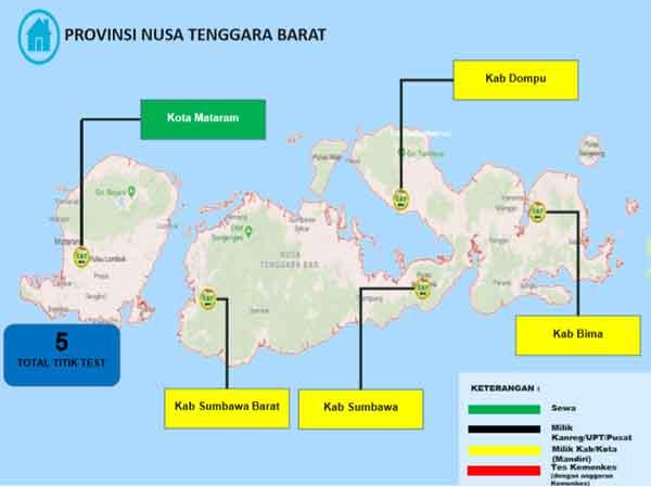 Lokasi Tes Cat BKN Propinsi Nusa Tenggara Barat