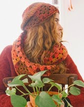 http://www.letsknit.co.uk/free-knitting-patterns/crochet-hat-and-cowl-set