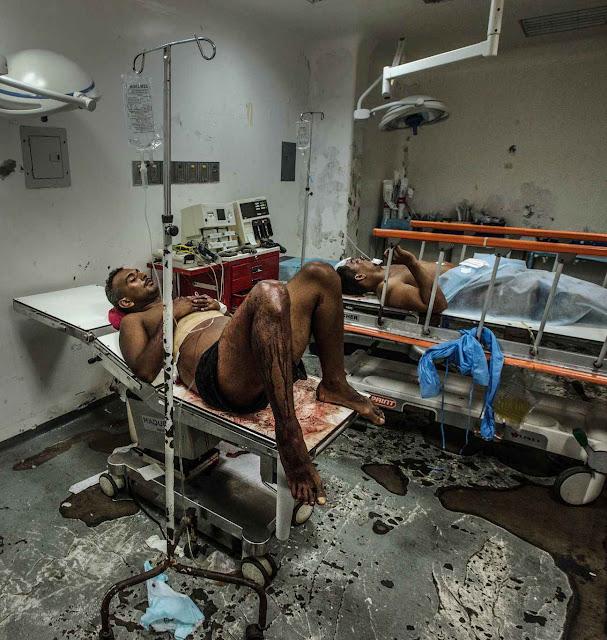 Hospitais em estado miserável.
