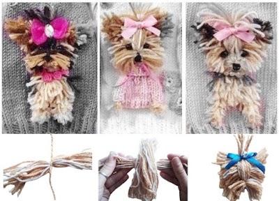 Cómo hacer un broche Yorkshire Terrier con lanas