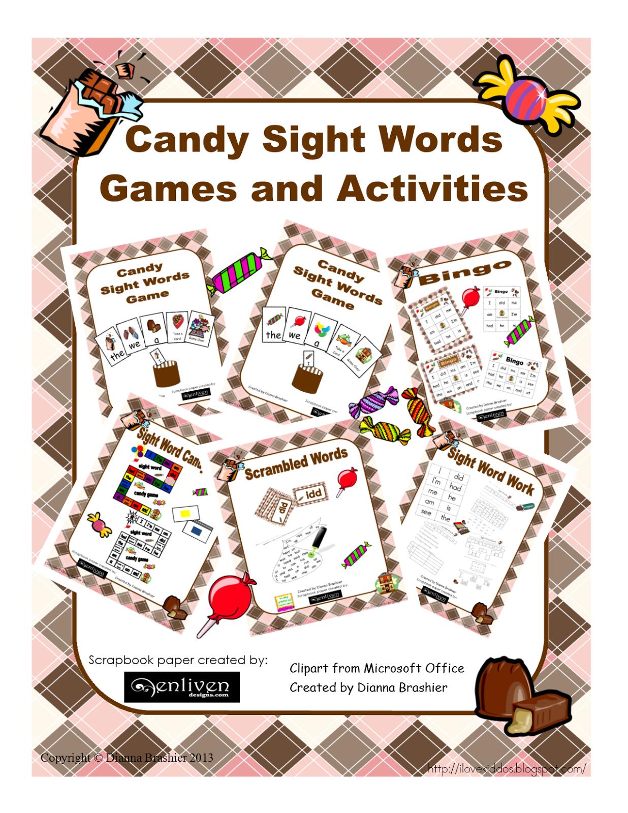 Teachers R Us Candy Sight Word Activities