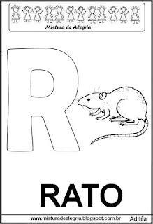 Alfabeto cartaz letra R