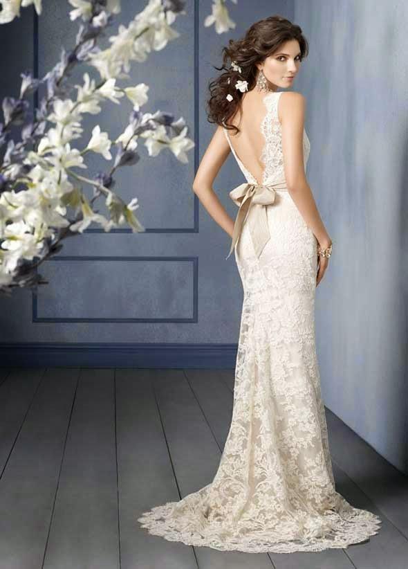 Lace Wedding Dresses Open Back Ideas