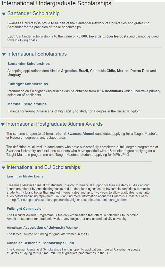 Swansea University International Merit Scholarships UK 2017
