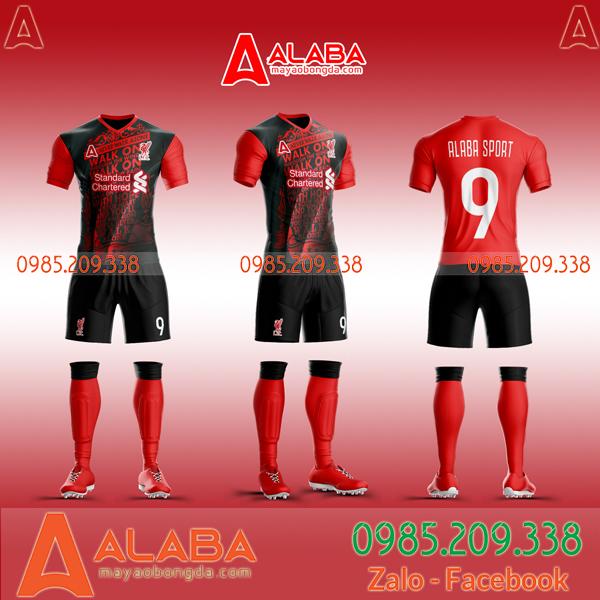 áo Liverpool sân khách màu đỏ đen đẹp nhất hiện nay