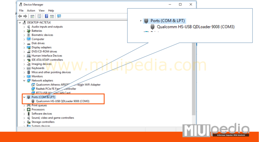 cara cek driver Qualcomm Hs -USB QDLoader 9008 pada xiaomi