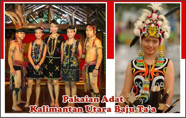 Gambar Pakaian Adat Kalimantan Utara Baju Sapei Sapaq