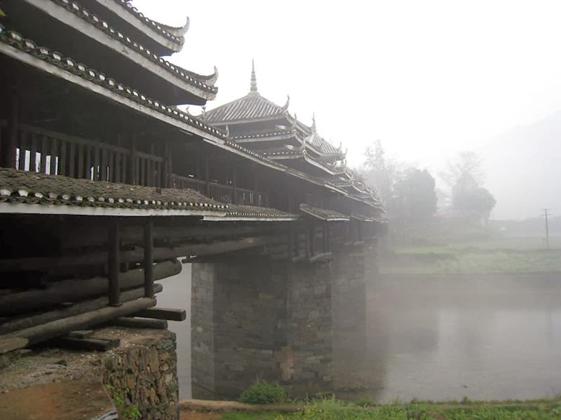 Wind and Rain bridge is a symbolic architectural structure of China