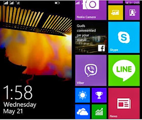 The Lumia 630's crispy and vivid LCD