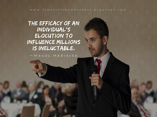 Manas Madrecha, public speaking quotes, man giving speech, elocution, man holding mike, man talking to crowd, people listening, simplifying universe, self help inspiration motivational blog, get inspired