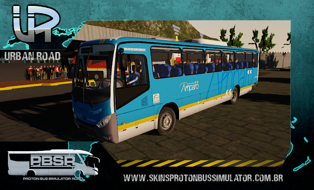 Skin Proton Bus Simulator Road - Ideale 770 OF-1721 BT5 Viação N. S. Amparo