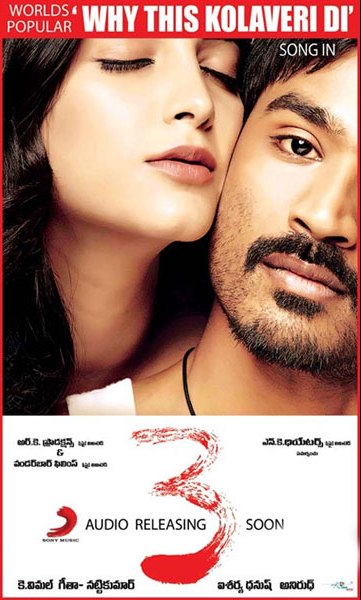 Mp3 Songs Download Mp3: Danush 3 Telugu Movie Mp3 Songs