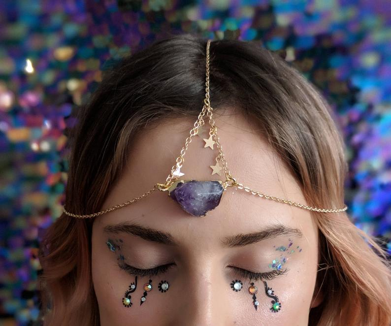 Judy and Madeleine Amethyst Stone Star Head Chain