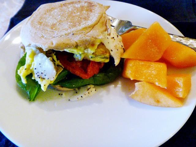 Slice of southern italian breakfast sandwich for Italian breakfast