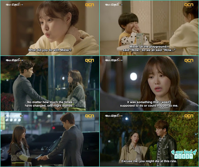 announcer hye ri listen to yoo mi and jin wook conversation and knew about what happened 3 years ago - My Secret Romance: Episode 9 korean drama