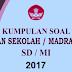 Download Soal dan Kunci Jawaban Ujian Sekolah SD/MI Tahun 2017