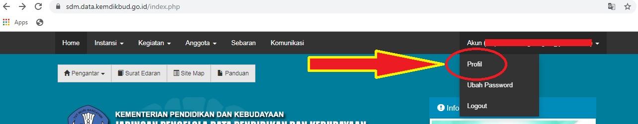 gambar cara update sk penugasan di sdm pdspk