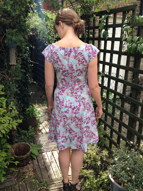 Diary of a Chainstitcher Cherry Blossom Crepe By Hand London Anna Dress Sewing PatternBy Hand London Anna Dress sewing pattern cherry blossom floral summer crepe chainstitcher
