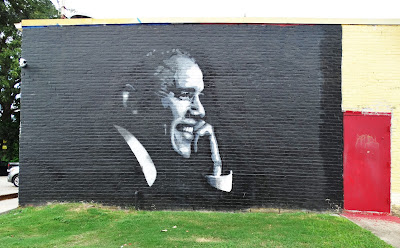 Obama mural in Midtown - W. Alabama Street (2016 version)