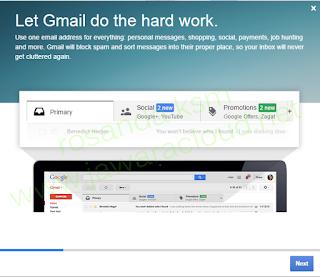 selamat datang di akun email baru google gmail