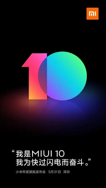 MIUI 10 Akan Diluncurkan Pada Tanggal 31 Mei