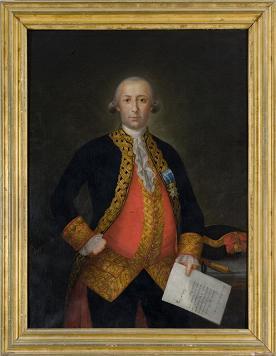 Bernardo de Gálvez, retrato, Carlos Monserrate, Senado, Estados Unidos, Capitolio, Washington