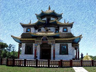 Terra Pura de Padmasambava,  Templo Budista Tibetano, em Três Coroas