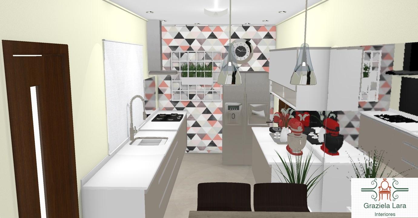 Construindo Minha Casa Clean Consultoria De Decora O Da Cozinha E  -> Cor De Parede Para Sala Clara