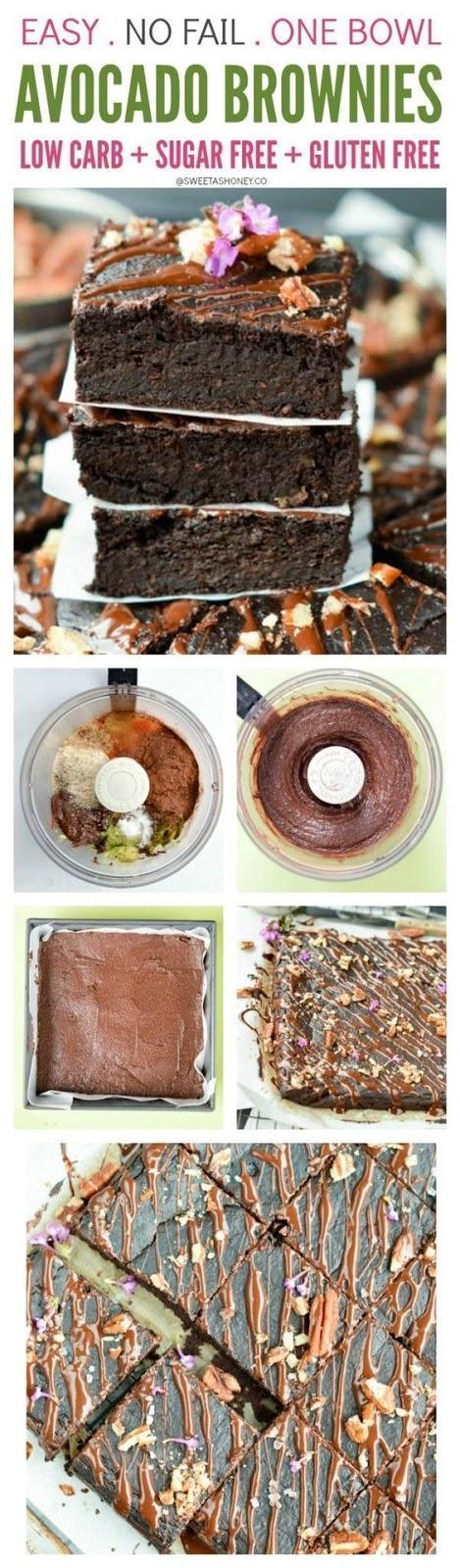 low carb fudgy avocado brownies | sugar free