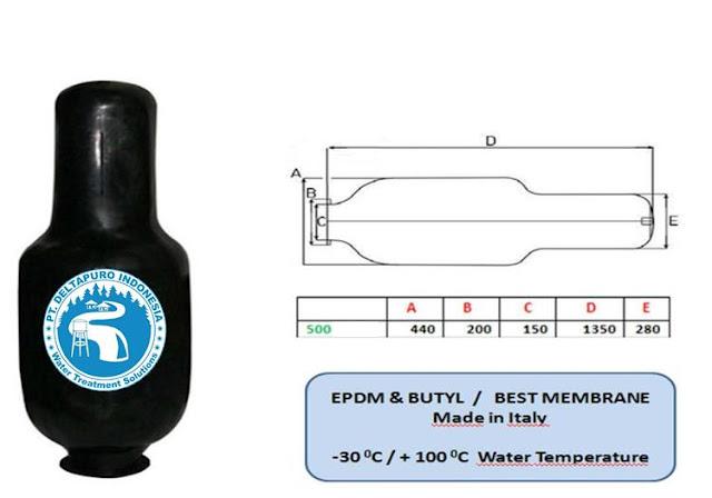Karet Membrane Pressure Tank 500 Liter
