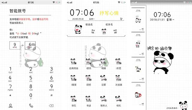 VIVO Theme: Baby Panda ( itz) - Kumpulan Tema Oppo