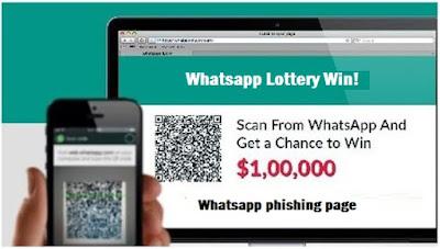 whatsapp phishing page tricks 2017