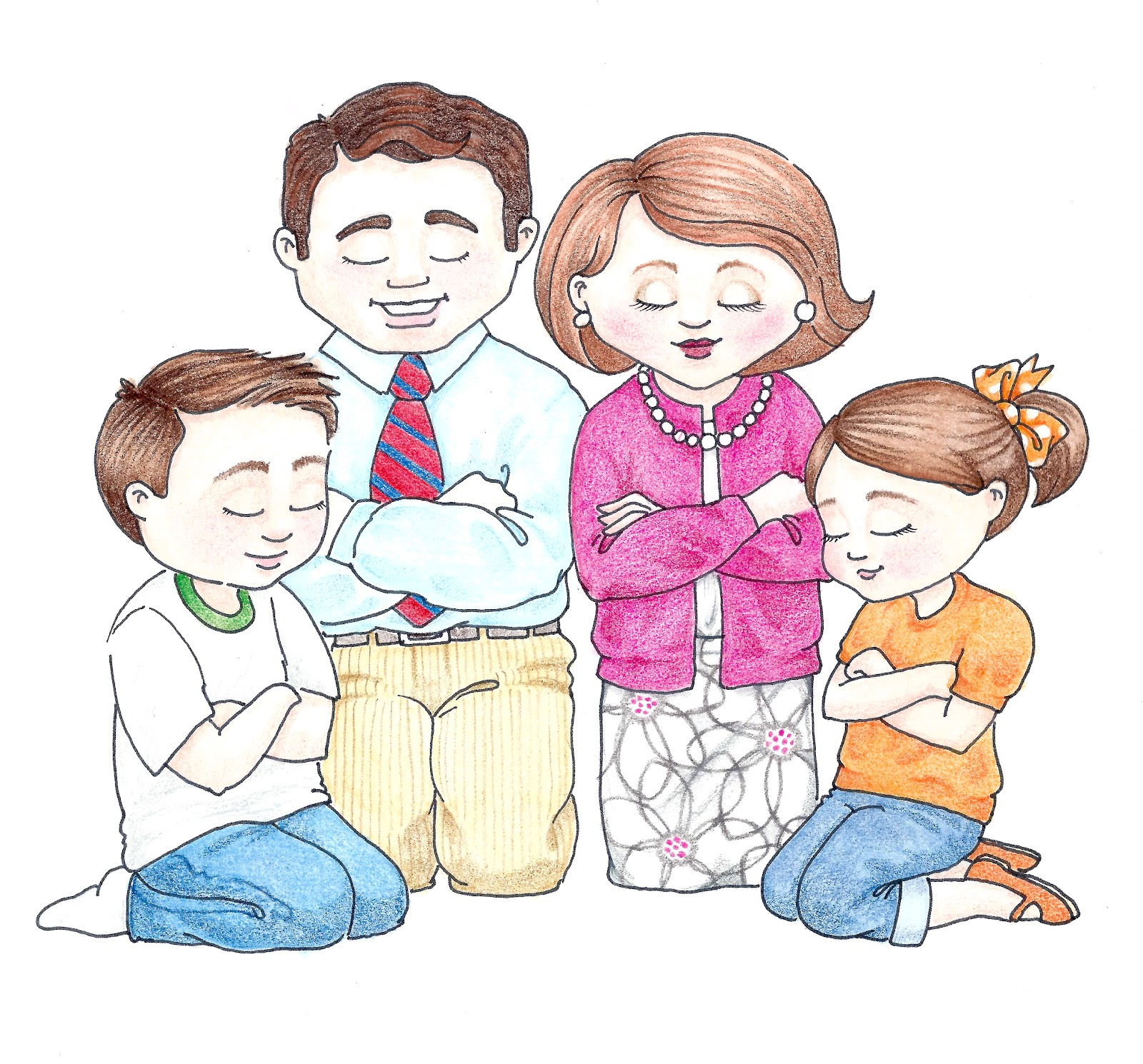 LDS ACTIVITY IDEAS: I Can Pray With My Family (Game)