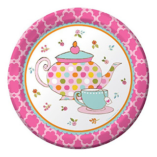 Daisy Girl Scout tea party paper plates