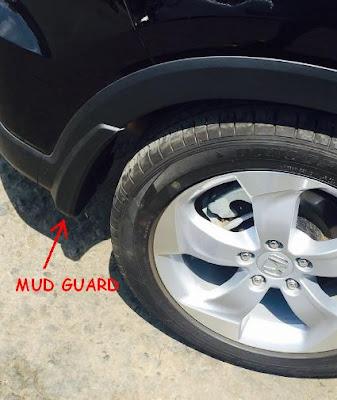 Aksesoris Honda HR-V : Contoh Mud Guard Terpasang di Roda Belakang