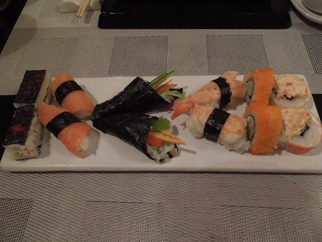 sushi at Japanese restaurant