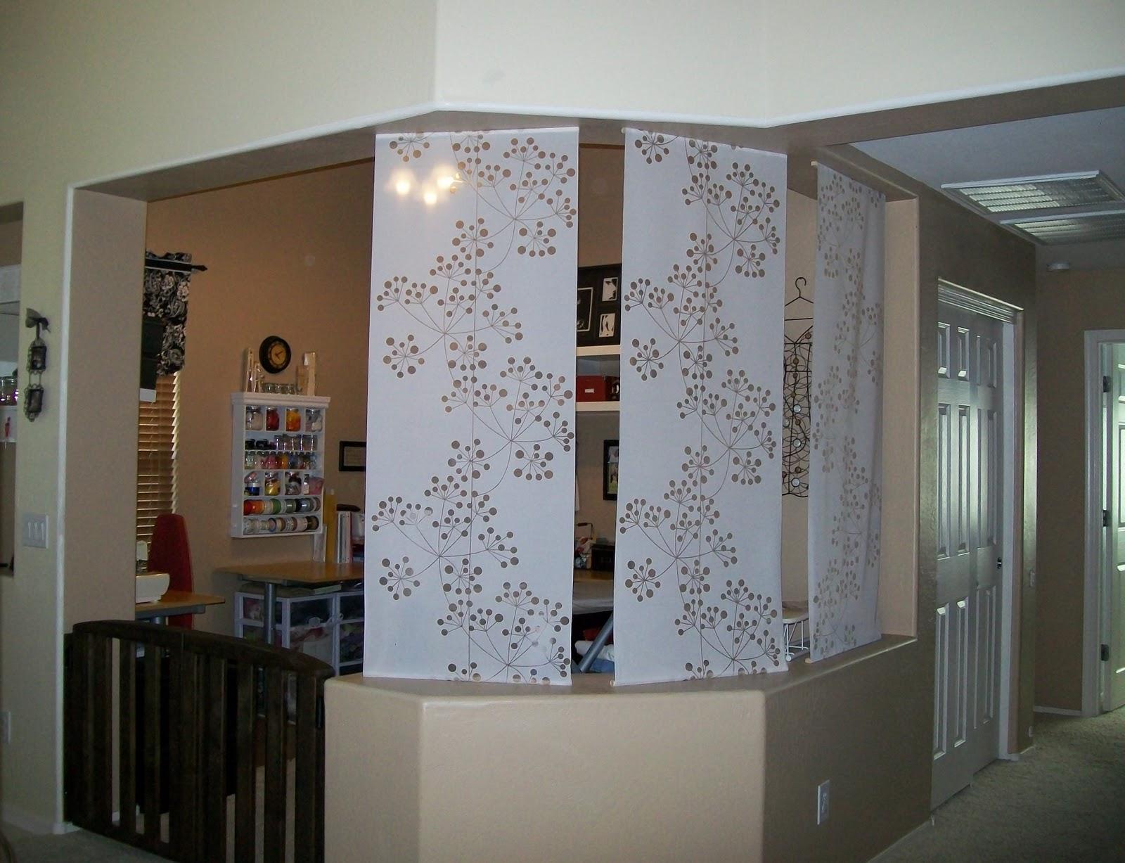 Attire alterations custom sewing room divider panels - Room divider curtain ideas ...
