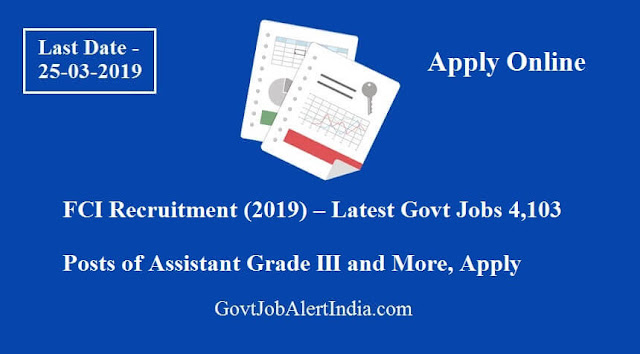 FCI Recruitment (2019)