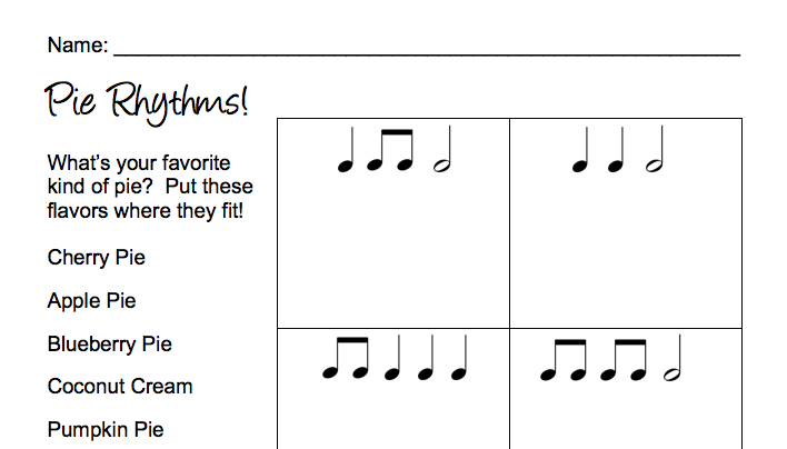 Printables Rhythm Worksheets musings with mrs lukow fun and yummy teachers pay rhythm worksheets