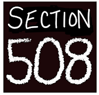 Section 508 written in white text on a black box
