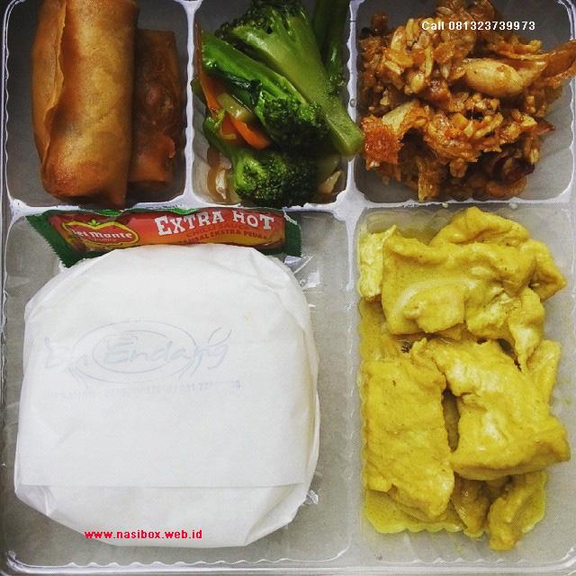 Nasi kotak vegetarian di ciwidey