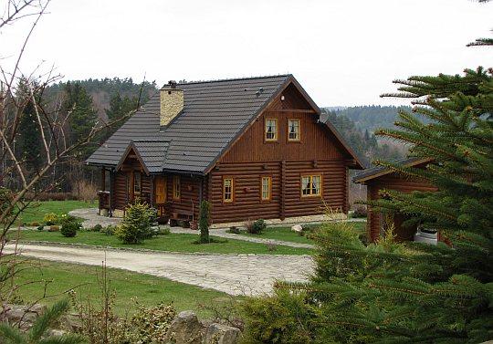 Jeden z domów osiedla Burkatówka