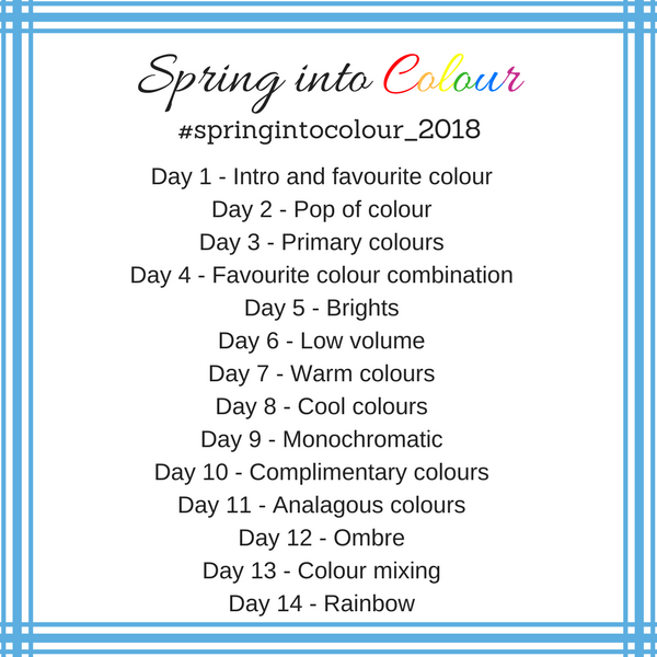 Spring into Colour 2018 | DevotedQuilter.blogspot.com