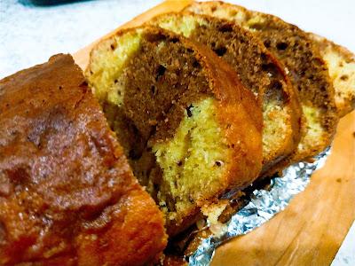 тыквенный кекс с шоколадом и орехами