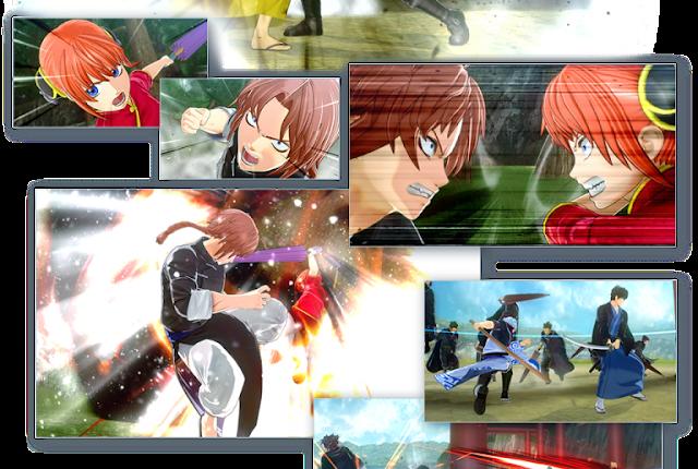 إستعراض بالصور للعديد من الشخصيات في لعبة Gintama Rumble