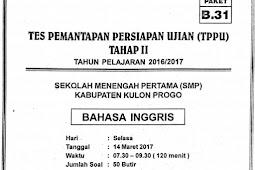 Soal TPPU Kulon Progo 2017 Tahap 2 - BAHASA INGGRIS