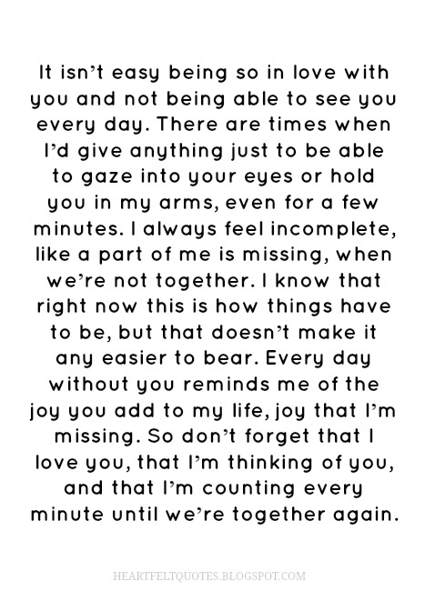 50 Long distance relationship love quotes. | Heartfelt Love ...