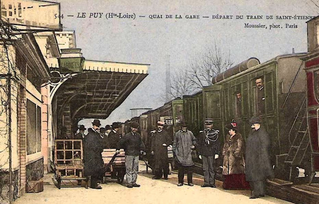CPA Le Puy, la Gare
