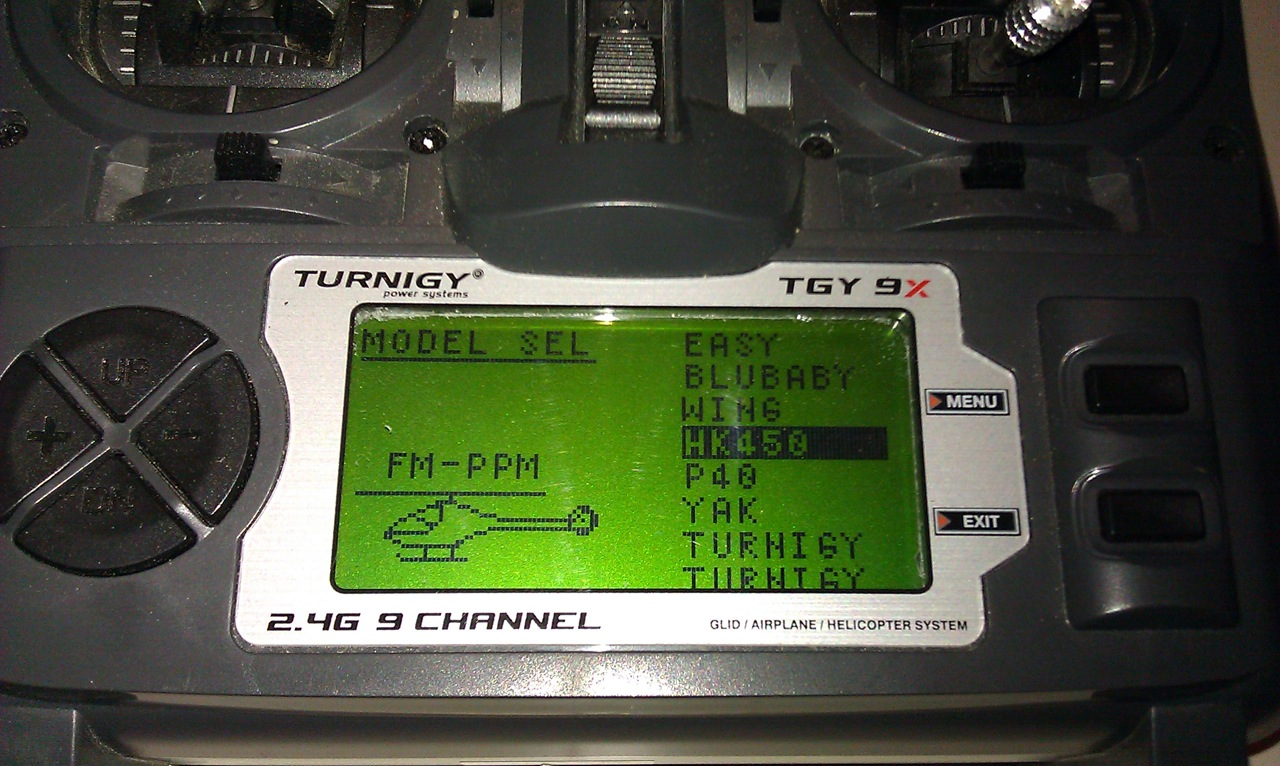 A Developers Blog: Turnigy Imax 9X tx HK 450 setup